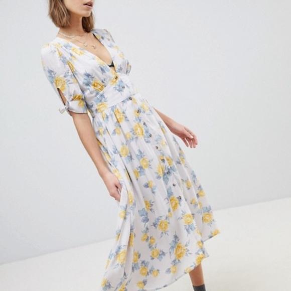 a8c0a168f0a8 Free People Dresses | Nwt Love Of My Life Floral Midi Dress | Poshmark
